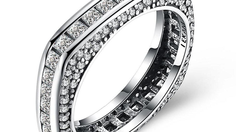 Eternity Baugette Sterling Silver Ring