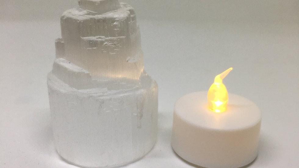 Selenite Skyscraper Lamp Mini