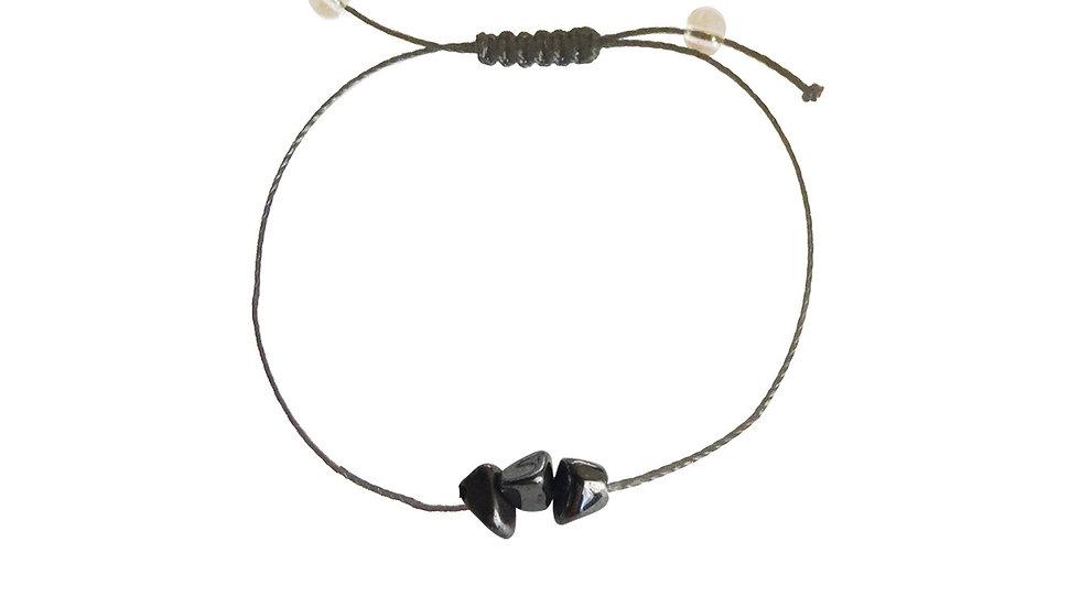 Hematite + Nylon + Choice of Anklet or Bracelet