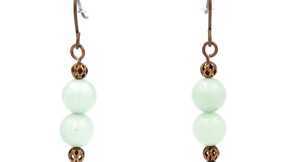 Ethereal Amazonite Copper Earrings