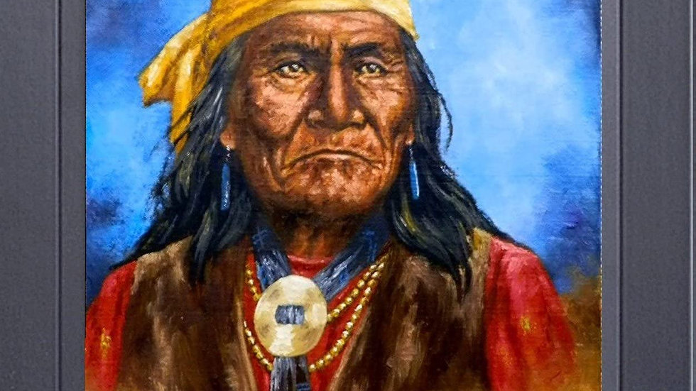 8 x 10  Framed print Under Glass all-wood  Geronimo