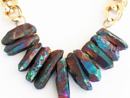 Rocked Up Crystal Quartz Necklace - Mermaid