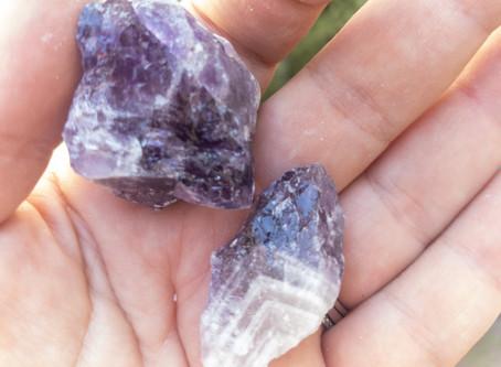 NEW! Chevron Amethyst rough stones