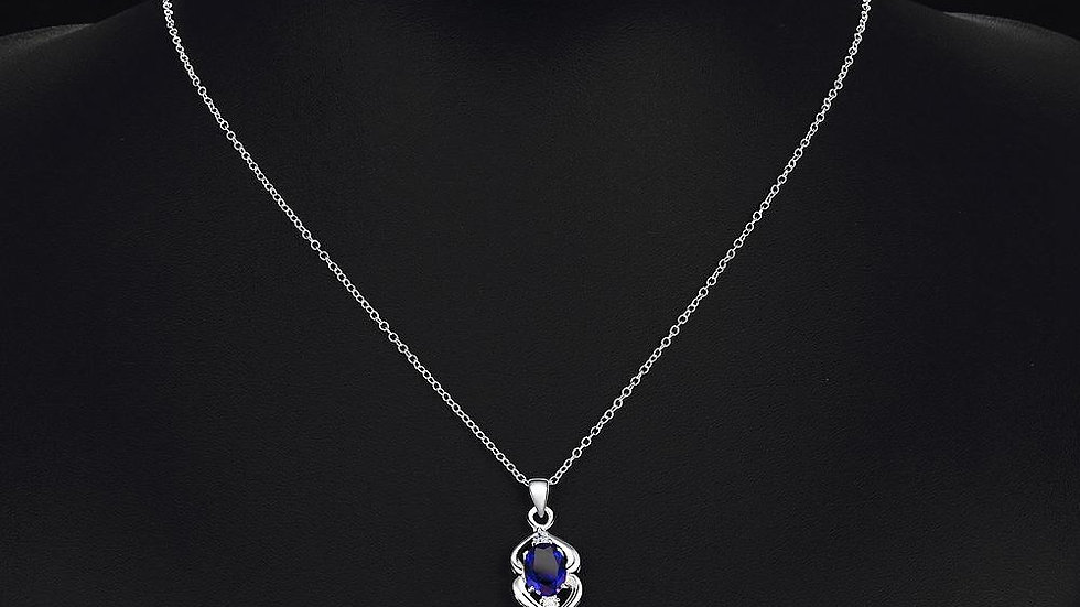 Blagnac Necklace in 18K White Gold Plated made with Swarovski Crystals