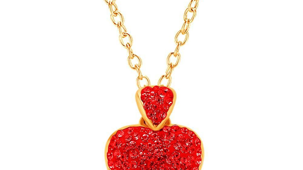 Crystal Ice Heart Pendent