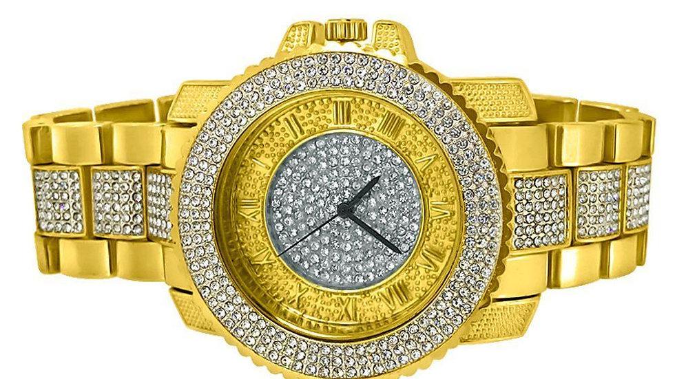 Bling Bling Gold Greek Hour Hip Hop Watch