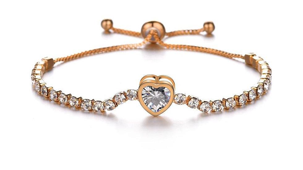 Crystal telescopic bracelet