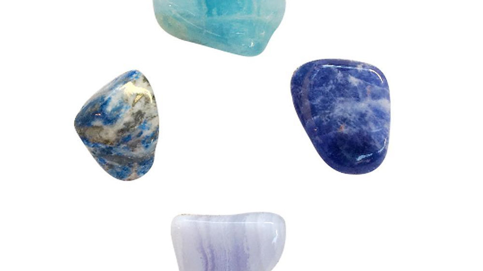Communication & Relief * Aquamarine, Sodalite, Lapis Lazuli & Blue Lace Agate