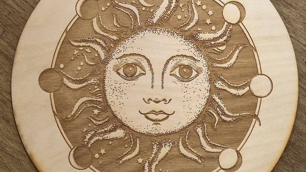 Sun Moon Phase Crystal Grid