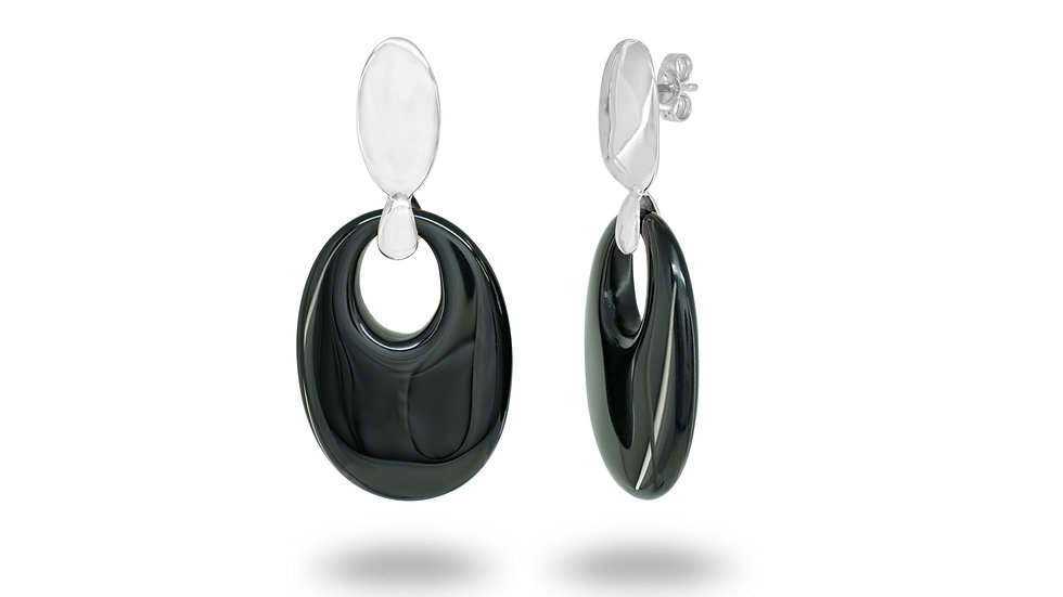 Black Obsidian Crystal Earrings