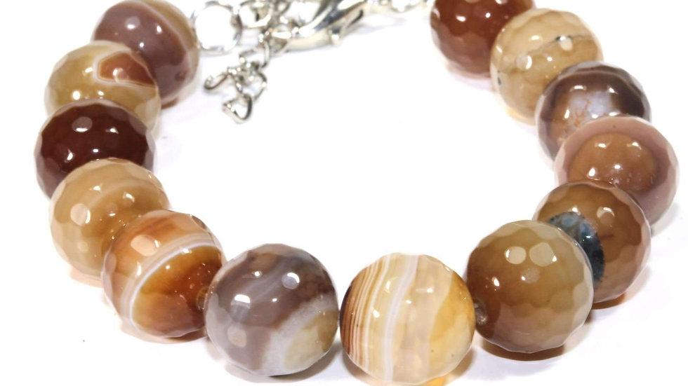 Earthy Agate Stone Yoga Bracelet