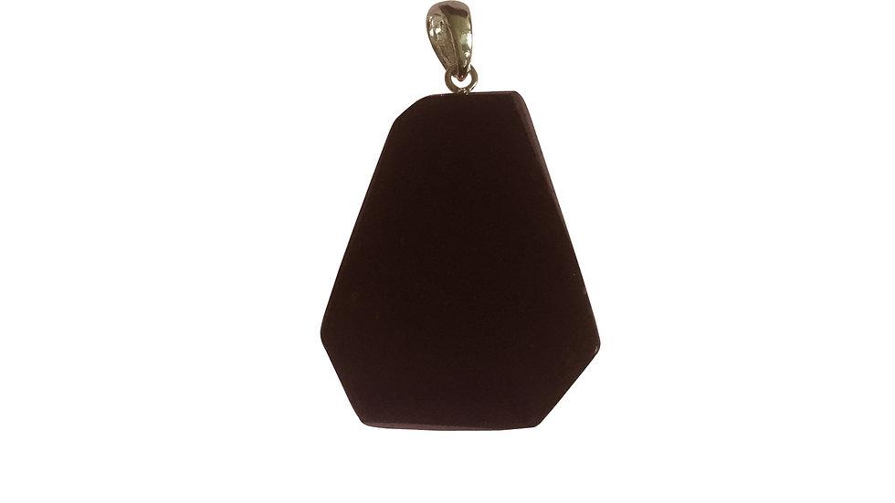 Black Tourmaline Sliced Pendant