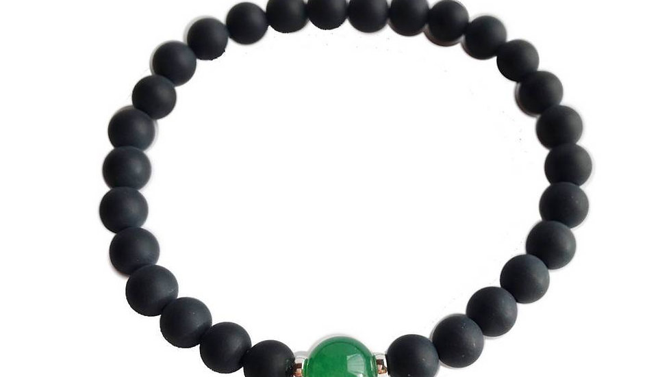 Aventurine & Black Onyx Bracelet