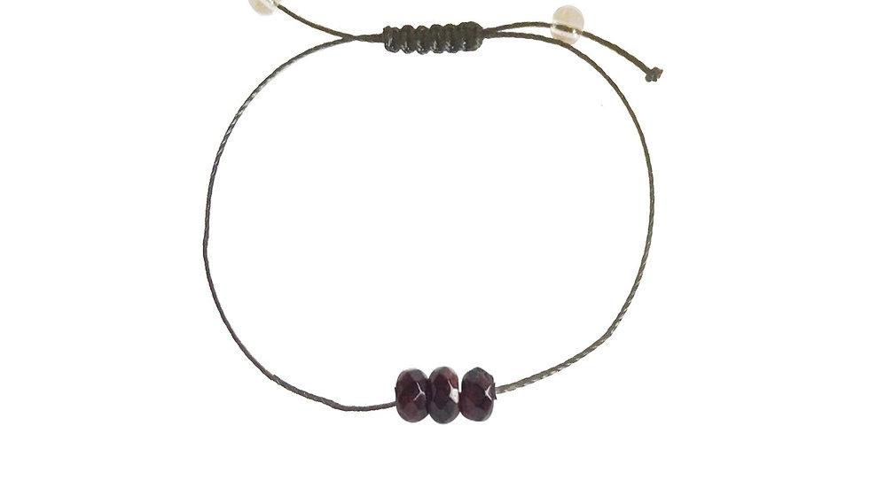 Power - Garnet + Nylon + Choice of Anklet or Bracelet