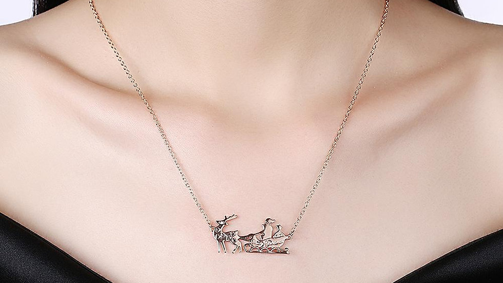 Santa Necklace in 18K Rose Gold Plated - Christmas Collection with