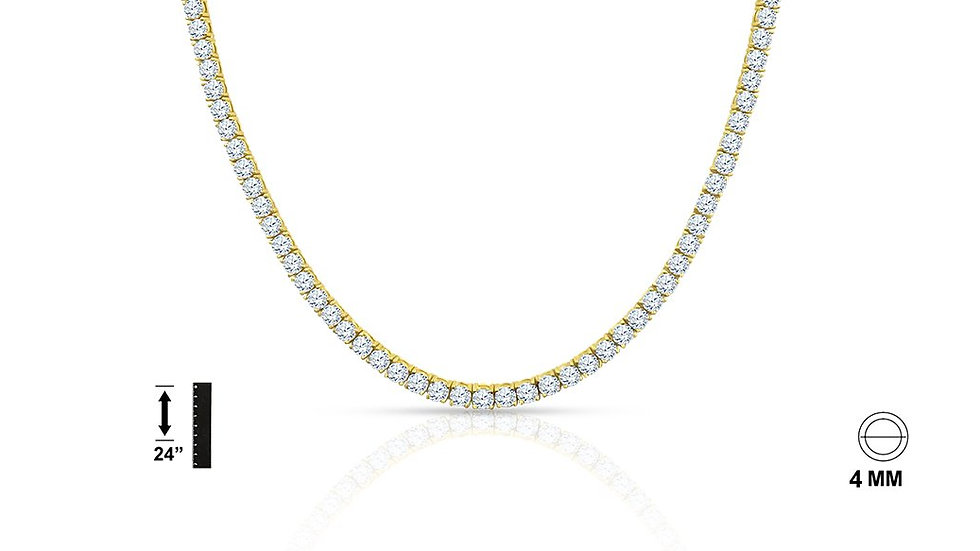 925 Sterling Silver Chain with CZ - 928592