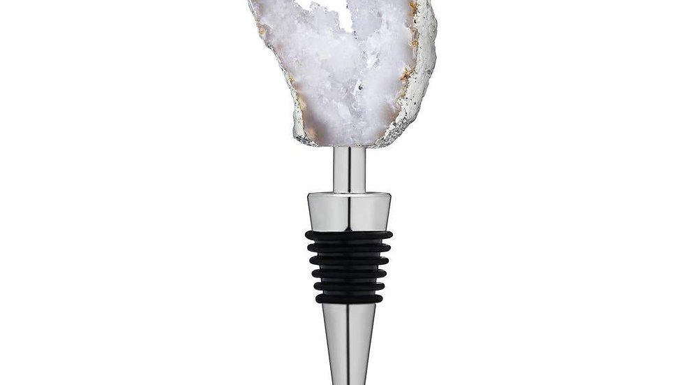 White Geode Bottle Stopper by Twine®
