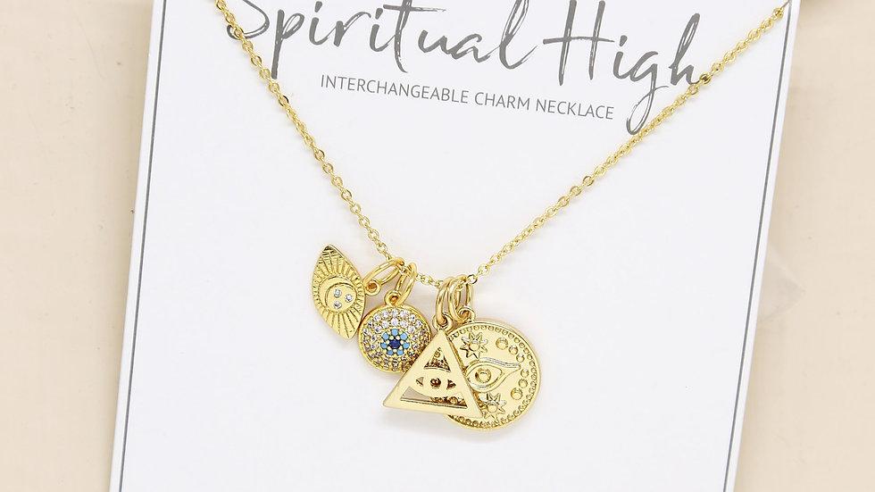 Spiritual High Interchangeable Charm Necklace