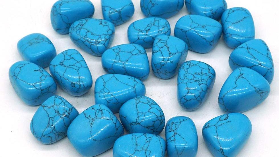 Bulk Tumbled Dyed Blue Turquoise Stone Polished Gemstone