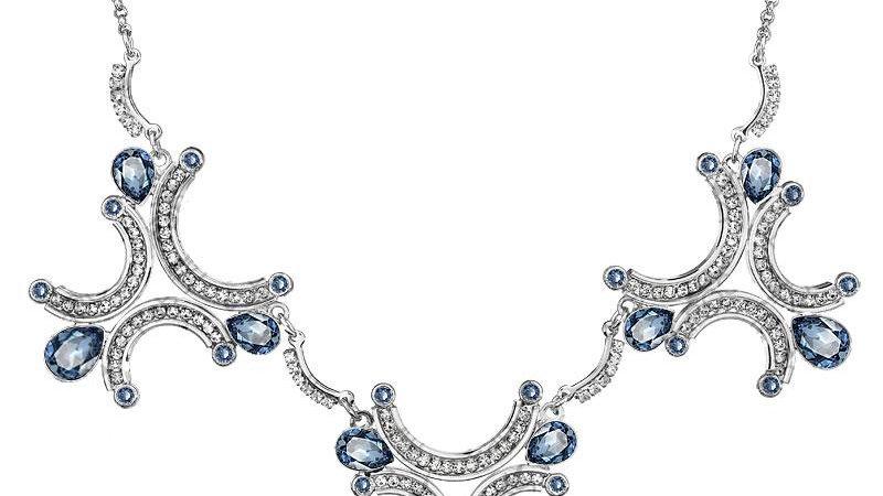 Rhodium Crystal Necklace