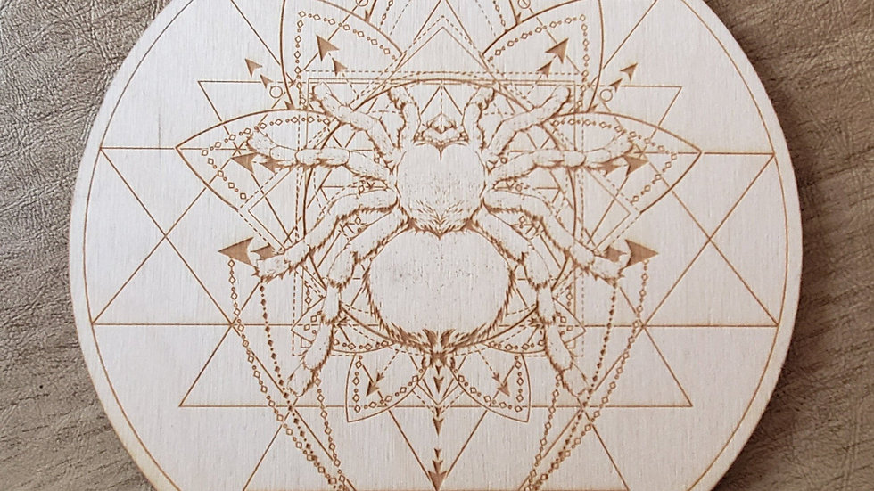Spider Sri Yantra Crystal Grid