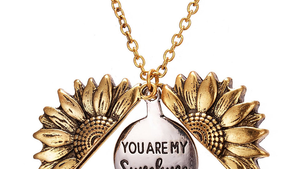 Spring is Here Inspired Open Sunflower Pendant Necklace in 14K Gold