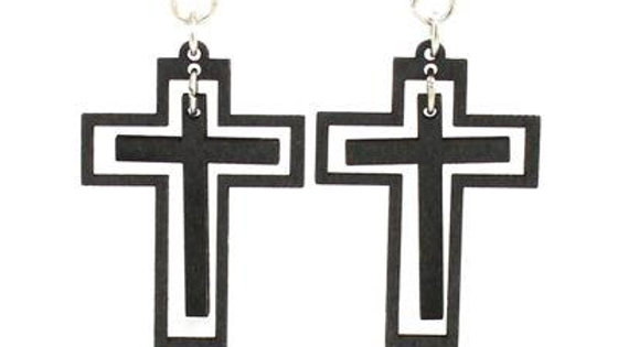 Traditional Cross Earrings #1498
