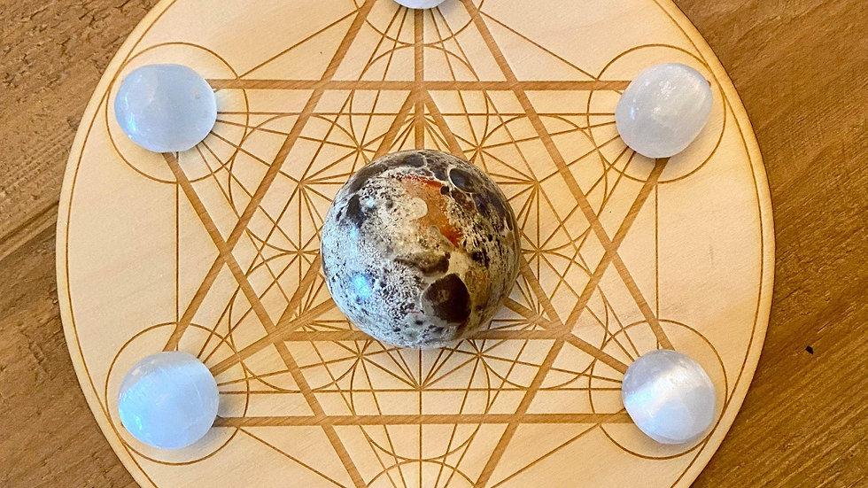 Merkaba Metatron's Cube  Sphere Holder Crystal Grid