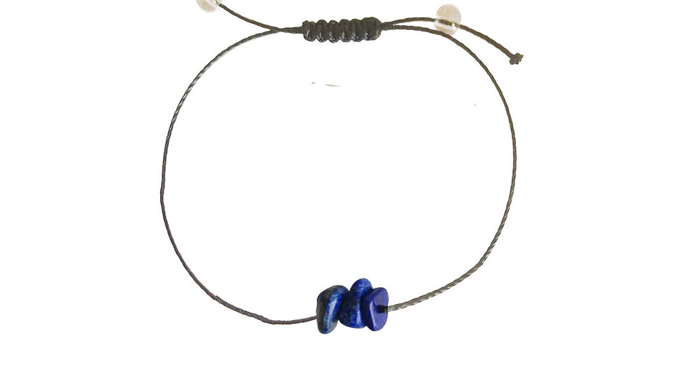 Lapis Lazuli + Nylon + Choice of Anklet or Bracelet