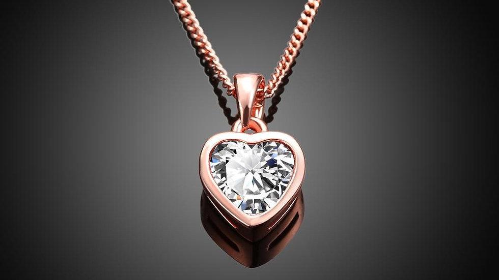 Classic Heart Shaped Swarovski Elements Necklace