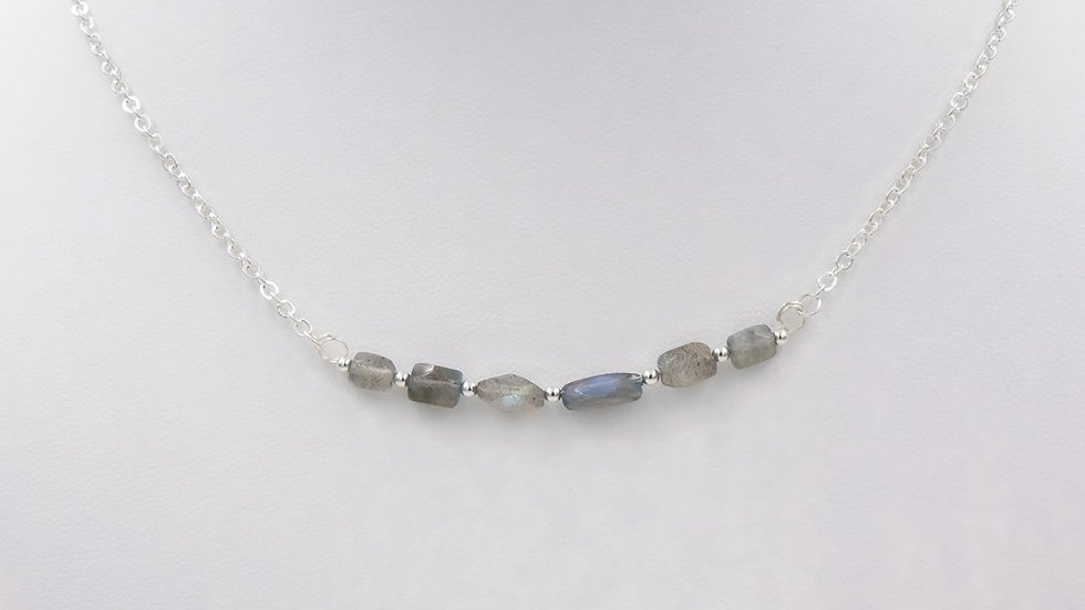 Blue Flashes ~ Iridescent Labradorite Necklace