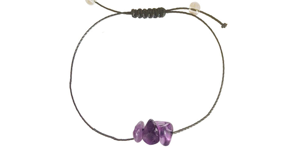 Relief - Amethyst + Nylon + Choice of Anklet or Bracelet