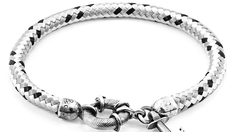 Grey Dash Salcombe Silver & Rope Bracelet