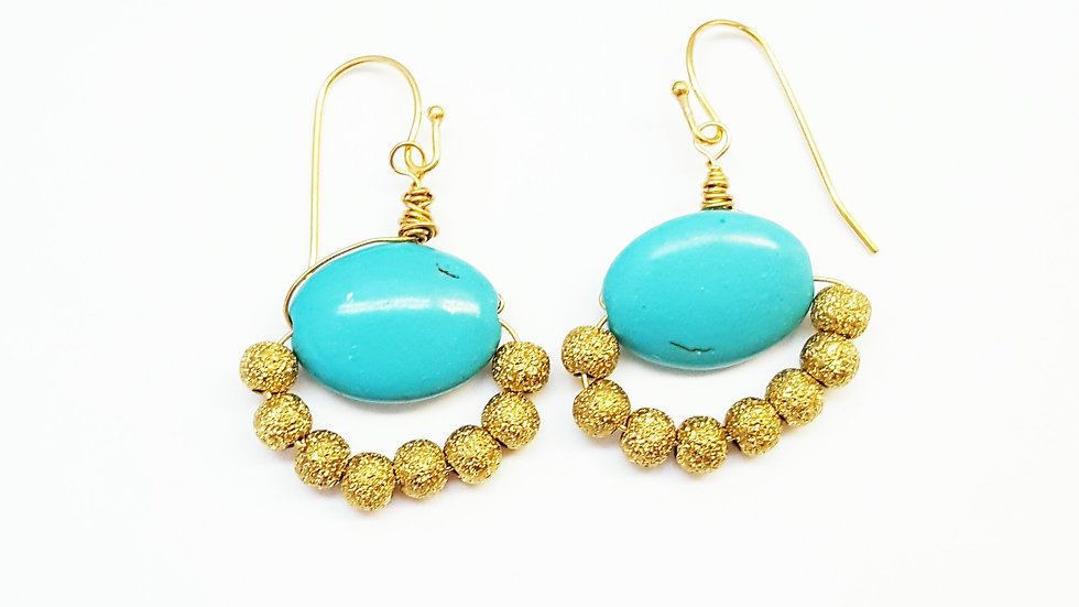 Turquoise Chandies Earrings