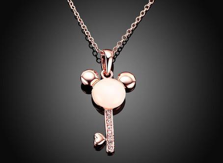 Key Tarragona Necklace in 18K Rose Gold Plated