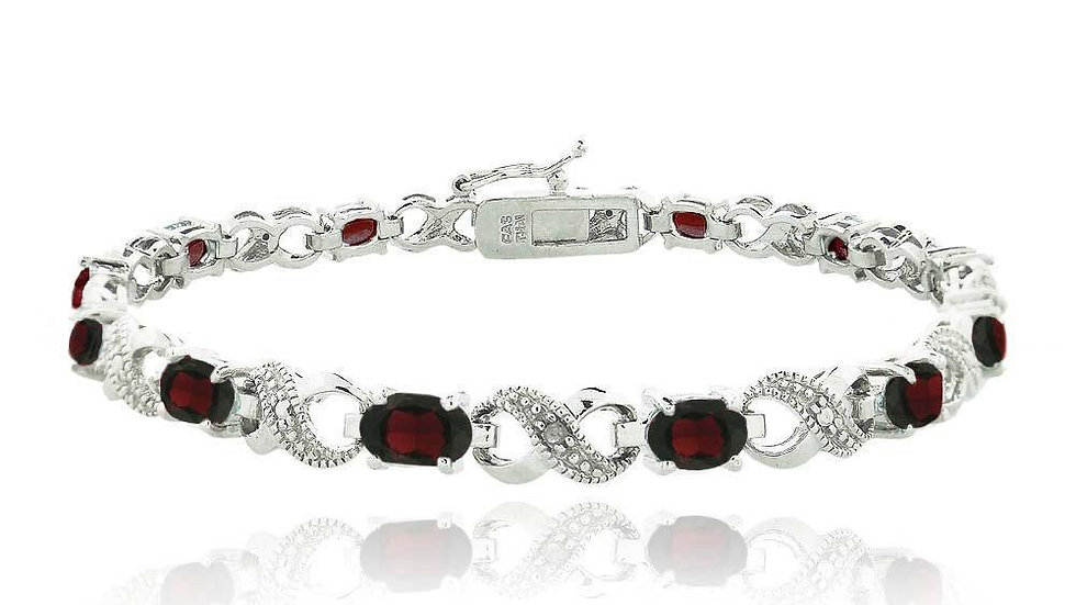 10.00 CT Genuine Ruby Infinity Bracelet