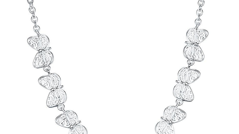 Stella Necklace in 18K White Gold Plated
