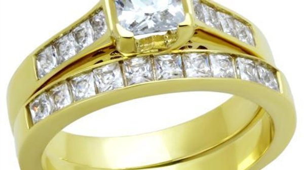 TK1895 IP Gold(Ion Plating) Stainless Steel Ring