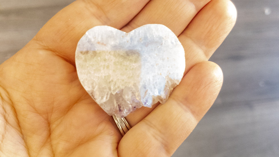Angel Aura Heart Shaped Amethyst Slice
