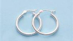 18mm Sterling Silver Hoop Earrings - (1 Pair)
