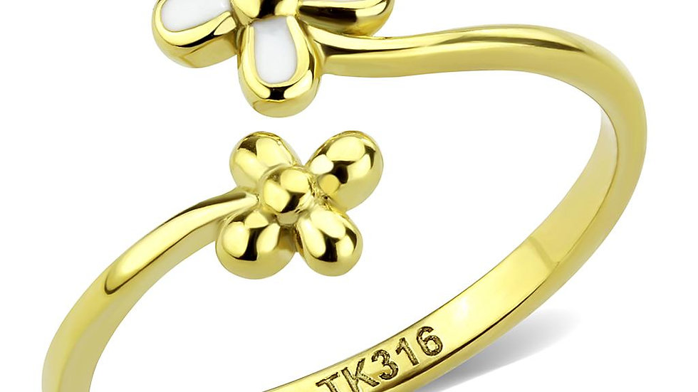 TK3631 IP Gold(Ion Plating) Stainless Steel Ring