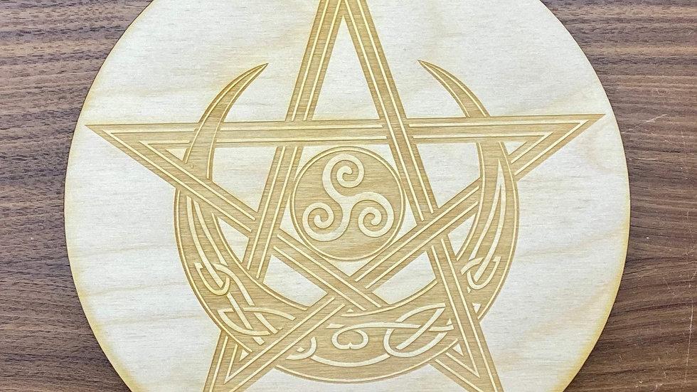 Celtic Pentagram Moon Crystal Grid