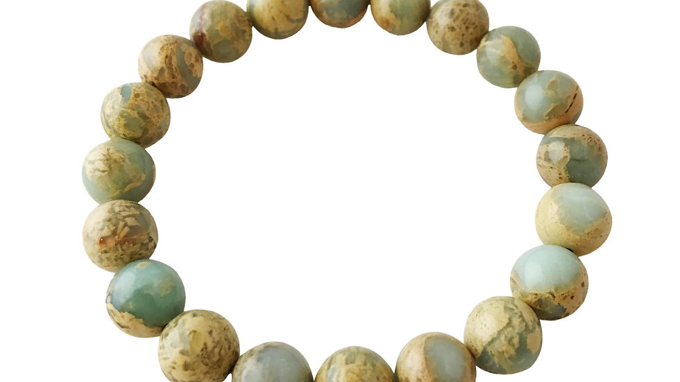 4mm Colorful Aqua Terra Jasper Bracelet