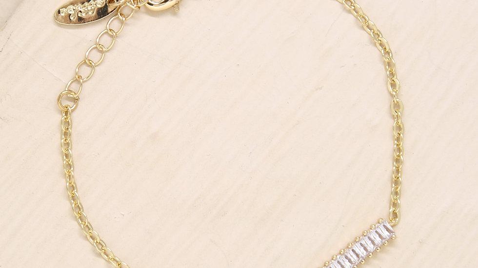 Juliet Crystal Pendant 18k Gold Plated Bracelet