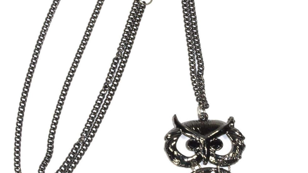 Wide Eyed Owl Necklace
