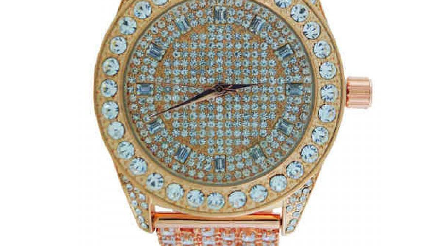 Watch with Crystal Band