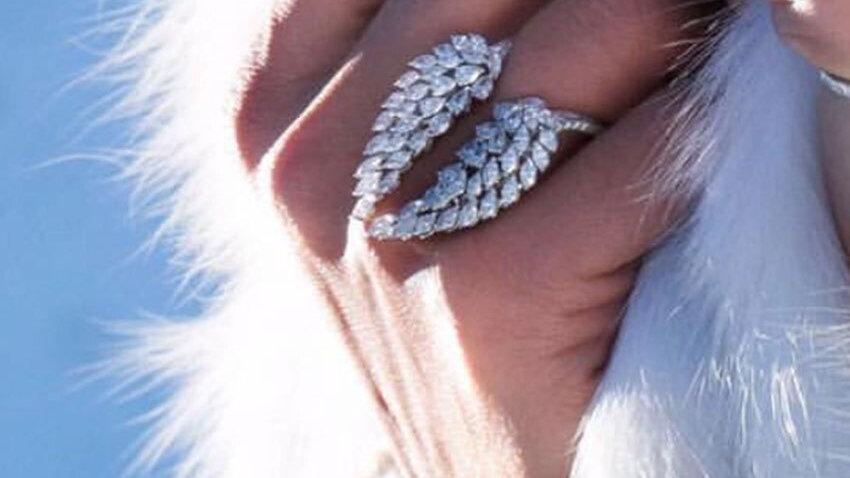 Big Angel Wings Ring 925 Sterling Silver Cute