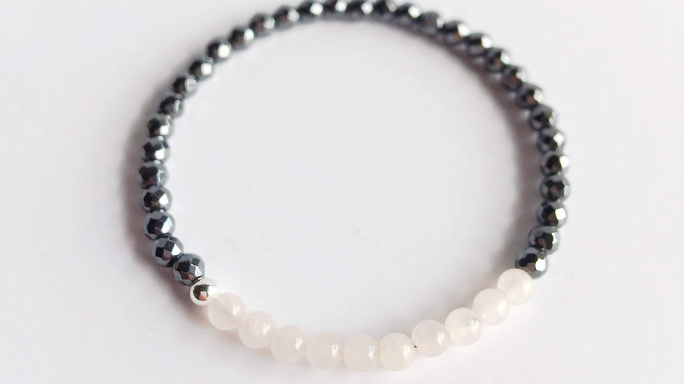 Hematite and Rose Quartz Bracelet