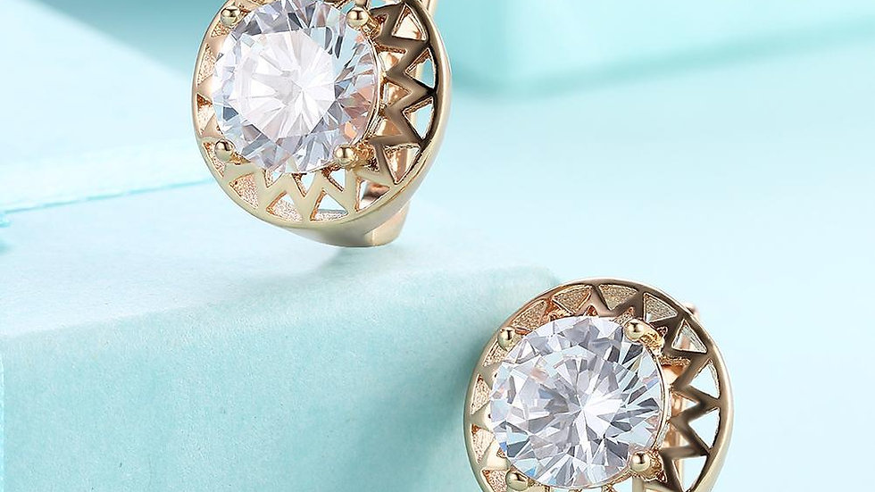 Swarovski Crystal Filligree Circular Leverback