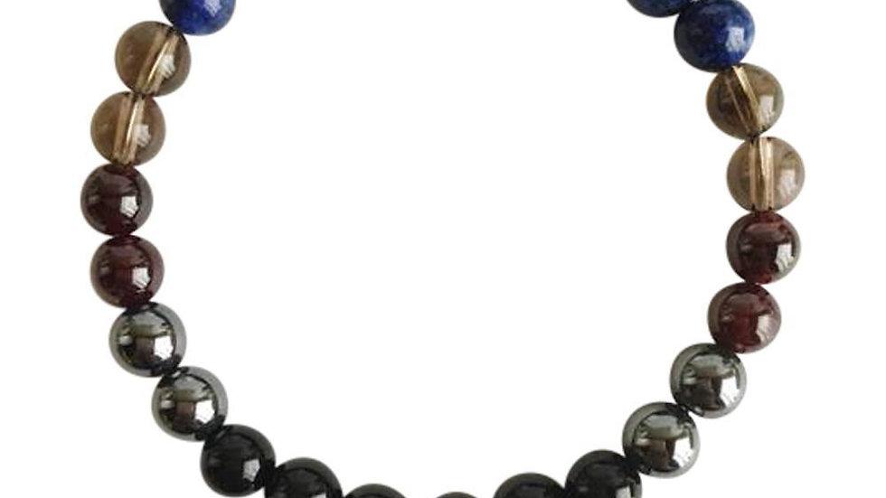Black Onyx, Hematite, Garnet, Smoky Quartz, Lapis Lazuli